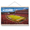 Georgia Bulldogs - It's Saturday in Athens - College Wall Art #Hanging Canvas