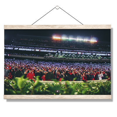 Georgia Bulldogs - Light Up Sanford - College Wall Art #Hanging Canvas
