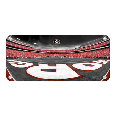 Georgia Bulldogs - Sanford Stadium End Zone Duotone Panoramic - College Wall Art #Metal