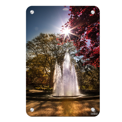 Georgia Bulldogs - The Fountain - College Wall Art #Metal