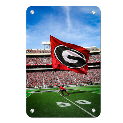 Georgia Bulldogs - The G Flag - College Wall Art #Metal