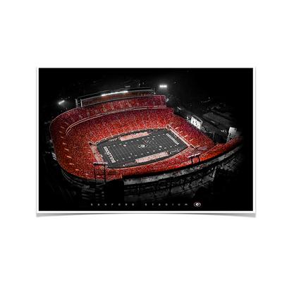 Georgia Bulldogs - UGA Sanford Stadium - College Wall Art #Poster