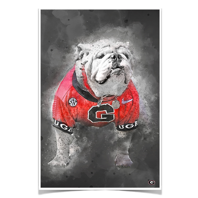 Georgia Bulldogs - The Dawg Painting - College Wall Art #Poster