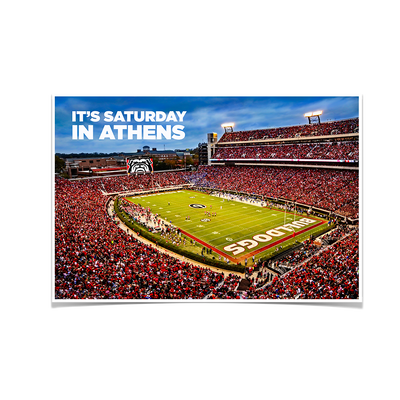 Georgia Bulldogs - It's Saturday in Athens - College Wall Art #Poster