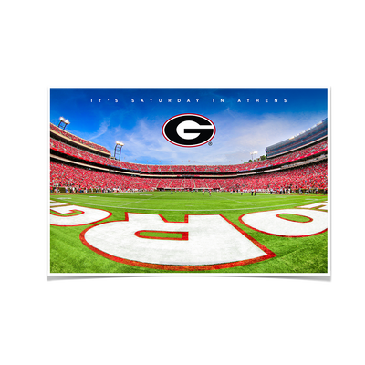 Georgia Bulldogs - It's Saturday in Athens End Zone - College Wall Art #Poster