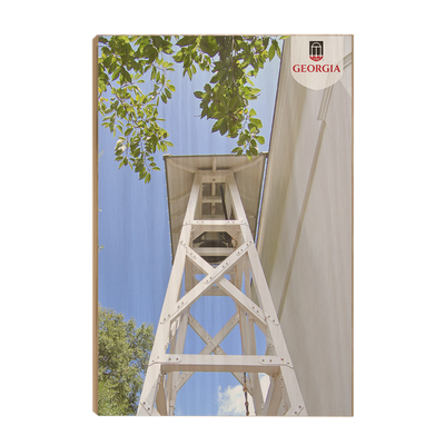 Georgia Bulldogs - Chapel Bell Tower - College Wall Art #wood