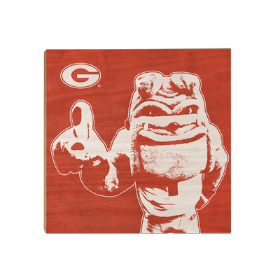 Georgia Bulldogs - Georgia Dawg - College Wall Art #Wood