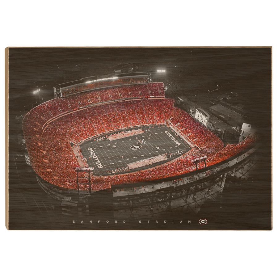 Georgia Bulldogs - UGA Sanford Stadium - College Wall Art #Canvas