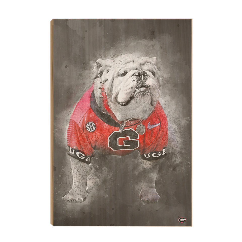 Georgia Bulldogs - The Dawg Painting - College Wall Art #Canvas