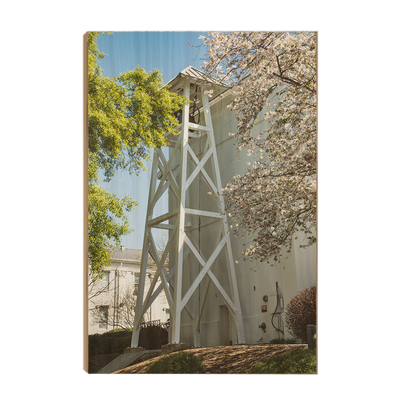 Georgia Bulldogs - Spring Bell Tower - College Wall Art #Wood