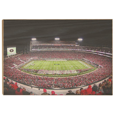 Georgia Bulldogs - Sanford Stadium 50 Yard Line - College Wall Art #Wood