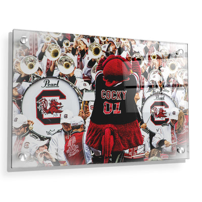South Carolina Gamecocks - Cocky and the Band - College Wall Art #Acrylic