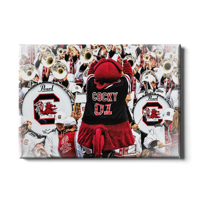 South Carolina Gamecocks - Cocky and the Band - College Wall Art #Canvas
