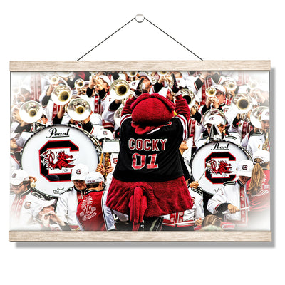 South Carolina Gamecocks - Cocky and the Band - College Wall Art #Hanging Canvas