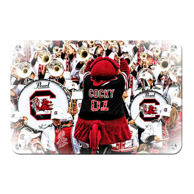 South Carolina Gamecocks - Cocky and the Band - College Wall Art #Metal