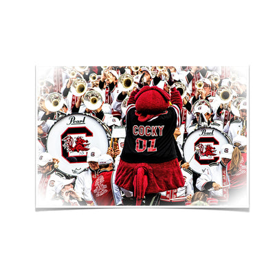 South Carolina Gamecocks - Cocky and the Band - College Wall Art #Poster