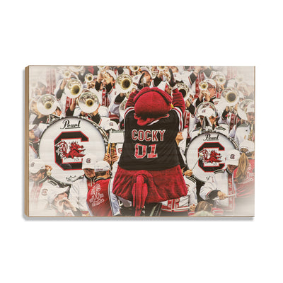 South Carolina Gamecocks - Cocky and the Band - College Wall Art #Wood