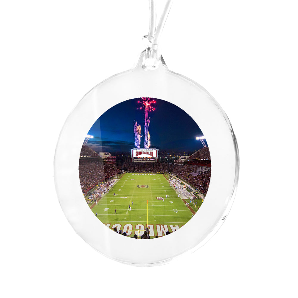 South Carolina Gamecocks - Fireworks Over Williams Brice Bag Tag & Ornament