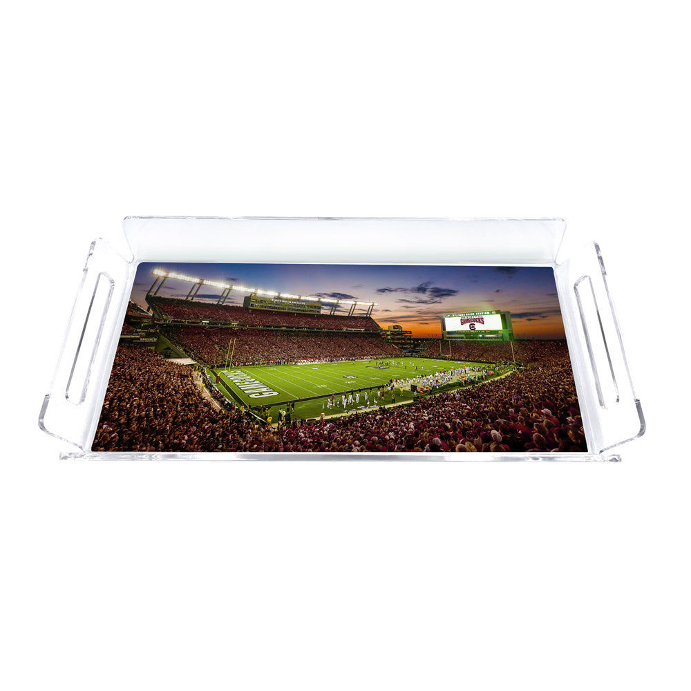 South Carolina Gamecocks - Williams Brice Sunset Tray