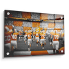 Tennessee Volunteers - Running Onto the Checkerboard Field - College Wall Art #Acrylic