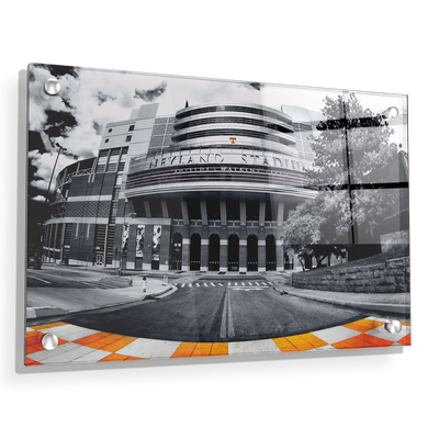 Tennessee Volunteers - Neyland B&W - College Wall Art #Acrylic