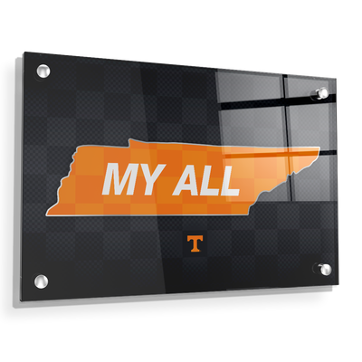 Tennessee Volunteers - My All - College Wall Art #Acrylic