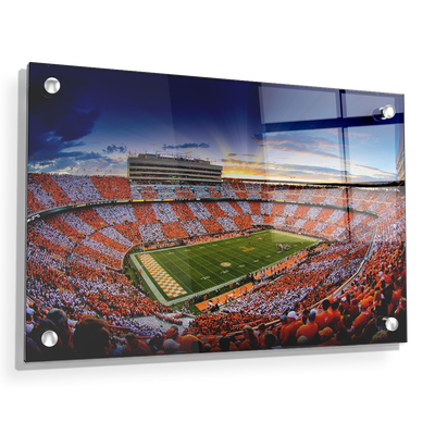 Tennessee Volunteers - Checkerboard Sunset - College Wall Art #Acrylic