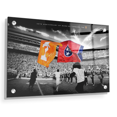 Tennessee Volunteers - 50 Years Running Through the T - College Wall Art #Acrylic