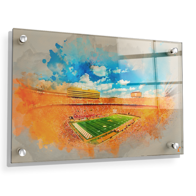 Tennessee Volunteers - Neyland Watercolor - College Wall Art #Acrylic
