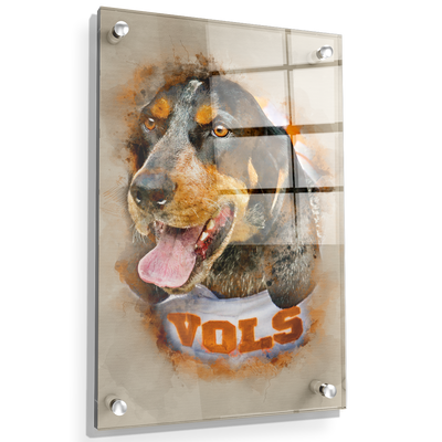 Tennessee Volunteers - Smokey Watercolor - College Wall Art #Acrylic