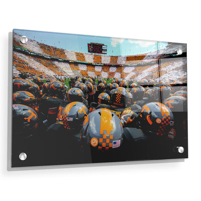 Tennessee Volunteers - Running onto the Field TN - College Wall Art #Acrylic