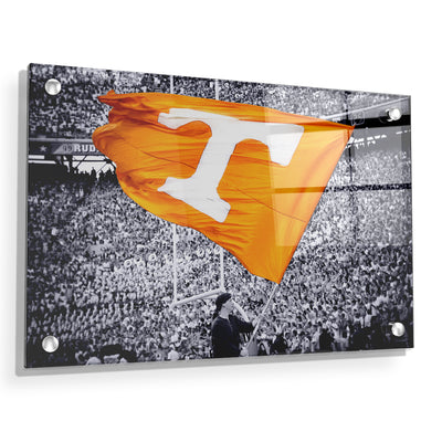 Tennessee Volunteers - Smokey Flag - College Wall Art #Acrylic