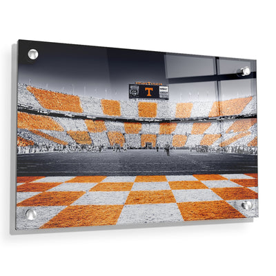 Tennessee Volunteers - Reverse Checkerboard - College Wall Art #Acrylic