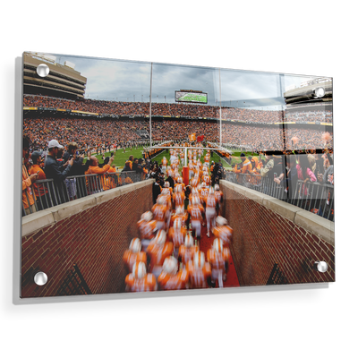 Tennessee Volunteers - Running Onto the Field 2016 - College Wall Art #Acrylic
