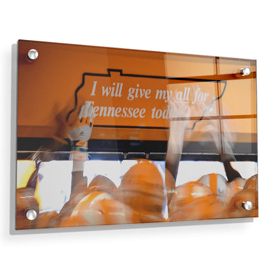 Tennessee Volunteers - Give My All - College Wall Art #Acrylic