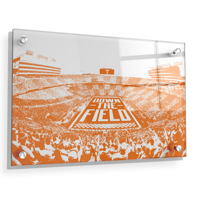 Tennessee Volunteers - Down The Field - College Wall Art #Acrylic