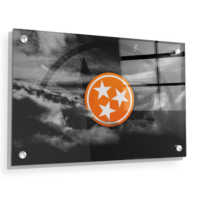 Tennessee Volunteers - Smokey Tri Star - College Wall Art #Acrylic