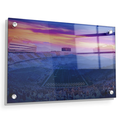 Tennessee Volunteers - Tennessee Mountain Sunset - College Wall Art #Acrylic