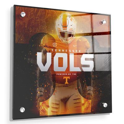 Tennessee Volunteers - Powered By The T Vols - College Wall Art #Acrylic