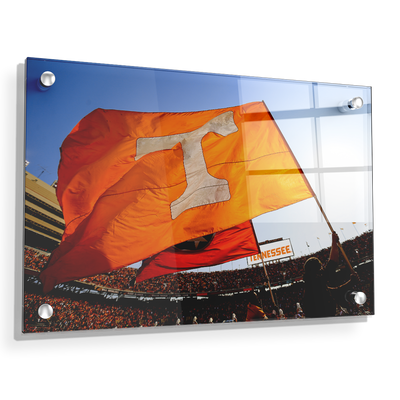 Tennessee Volunteers - T Flags - College Wall Art #Acrylic