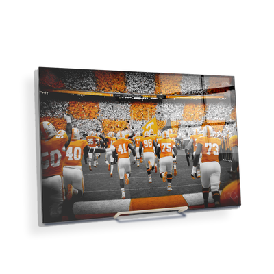 Tennessee Volunteers - Running Onto the Checkerboard Field - College Wall Art #Acrylic Mini