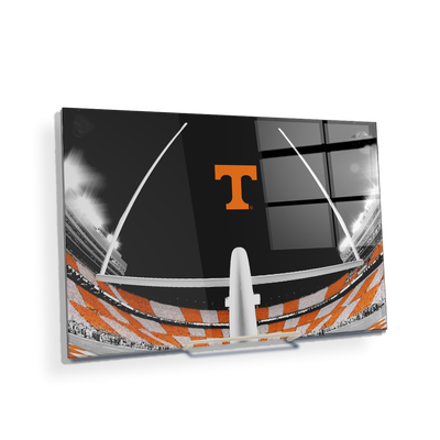 Tennessee Volunteers - Checkerboard Goal Post - College Wall Art #Acrylic Mini
