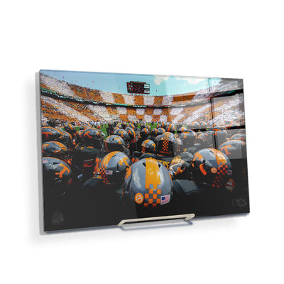 Tennessee Volunteers - Running onto the Field TN - College Wall Art #Acrylic Mini
