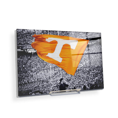 Tennessee Volunteers - Smokey Flag - College Wall Art #Acrylic Mini