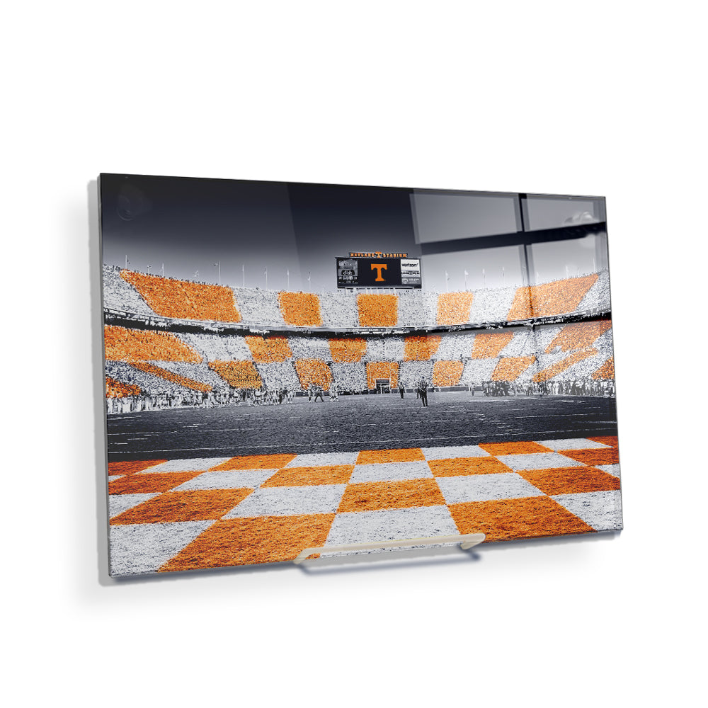 Tennessee Volunteers - Reverse Checkerboard - College Wall Art #Canvas