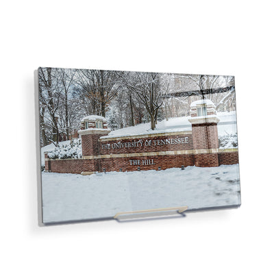 Tennessee Volunteers - Snowy Hill - College Wall Art #Acrylic Mini