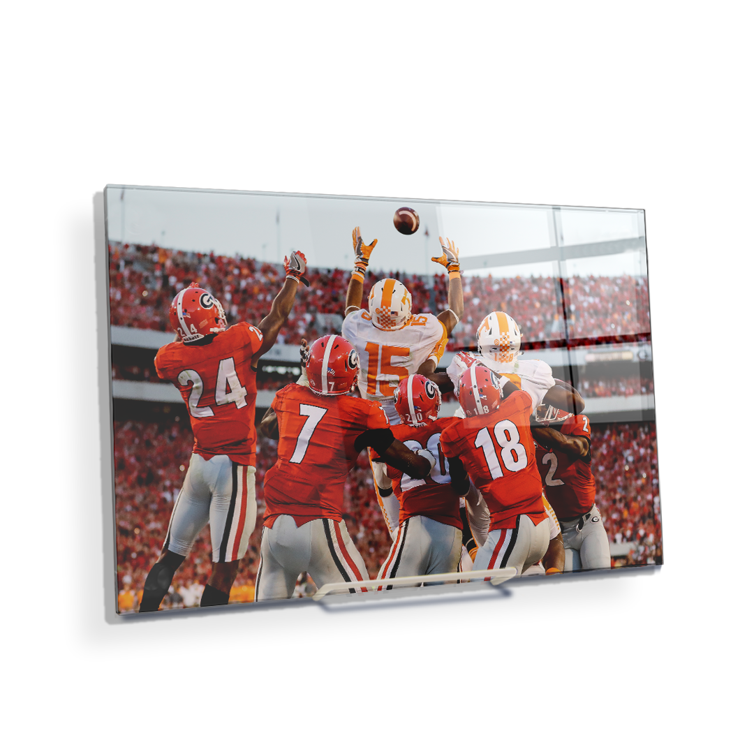 Tennessee Volunteers - The Catch TN vs. GA - College Wall Art #Canvas