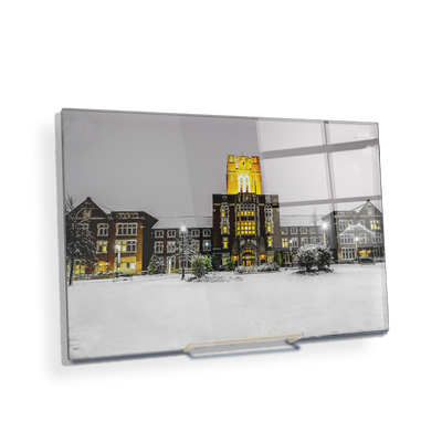 Tennessee Volunteers - Ayres Hall Winter Day - College Wall Art #Acrylic Mini