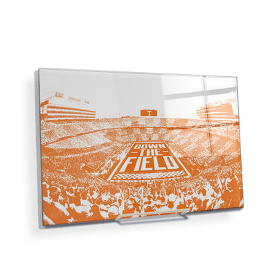 Tennessee Volunteers - Down The Field - College Wall Art #Acrylic Mini