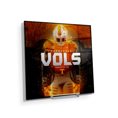 Tennessee Volunteers - Powered By The T Vols - College Wall Art #Acrylic Mini